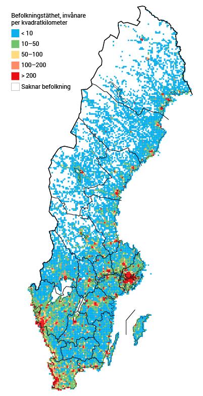 sveriges städer efter folkmängd